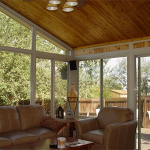 Sunrooms screened rooms eze breeze sliding panels for All season rooms